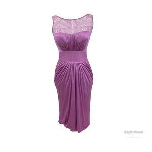 Blumarine Jersey Body Con Lace DressItalianEUC